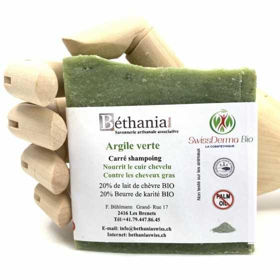 Shampoing Argile verte, Shampoo naturel bio, shampooing
