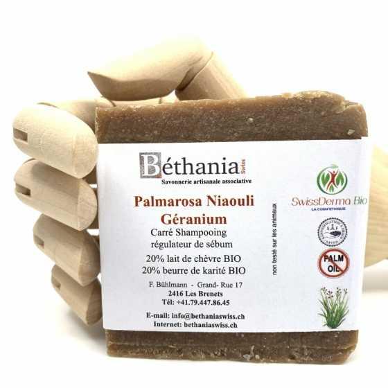 Shampoing Palma rosa-niaouli, Shampoo naturel bio, shampooing