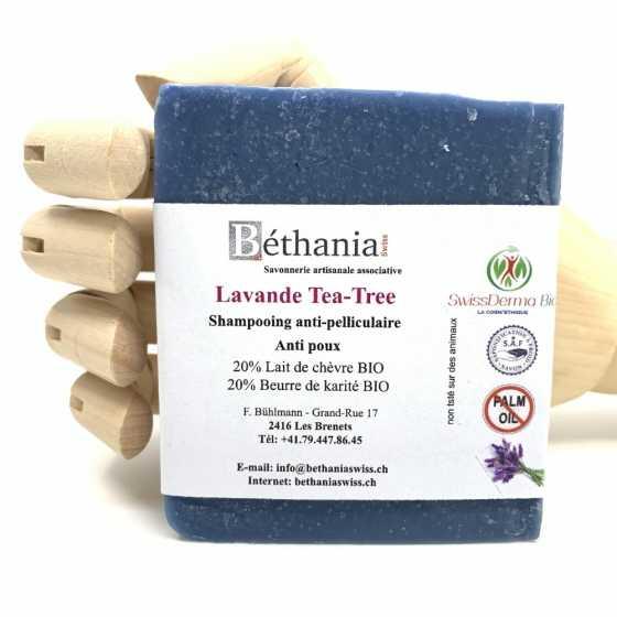 Shampoing Lavandin-Tea-tree, Shampoo naturel bio, shampooing