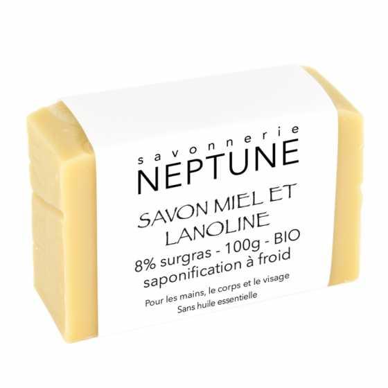 NEPTUNE Honig- und Lanolinseife - BIO
