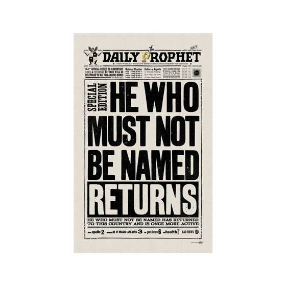Geschirrtuch - The Daily Prophet - He Who Must Not Be Named Returns