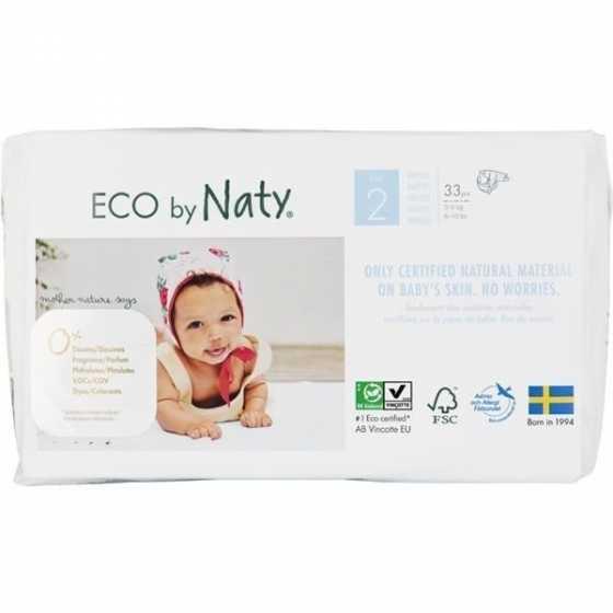 Eco Windeln – Größe 2 Mini, 3-6 kg - 33 St. - Naty