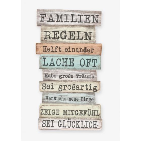 Tafel FAMILIEN REGELN