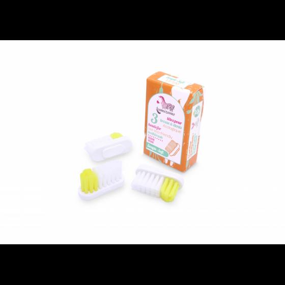 3 Bürstenköpfe für Zahnbürste Soft Nylon - 3 Stück - Lamazuna