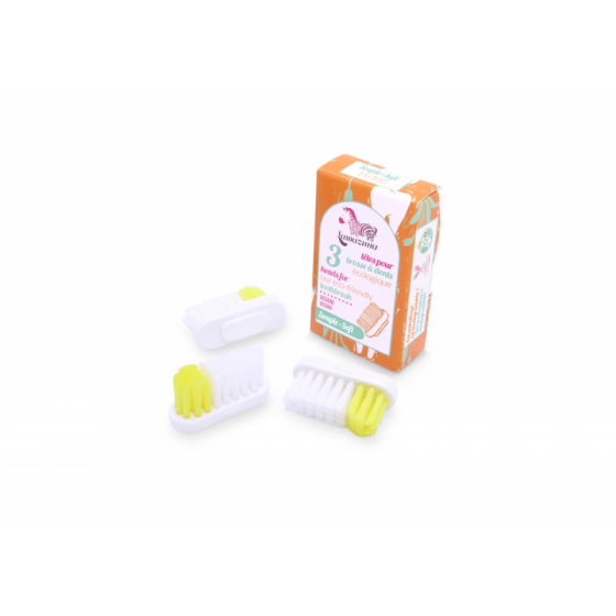 Recharge 3 têtes de brosse à dents Soft - Lamazuna