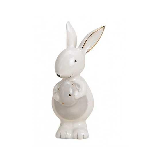 """Lapin en céramique """"Blanc"""" petit"""