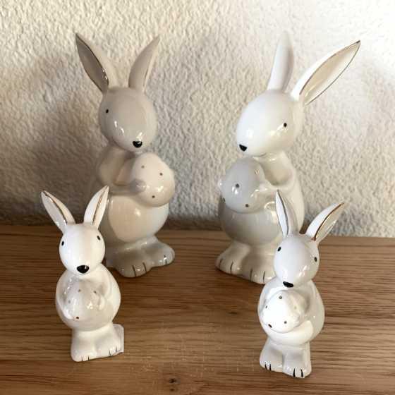 """Keramische Kaninchen-""""Grau"""" gross"""