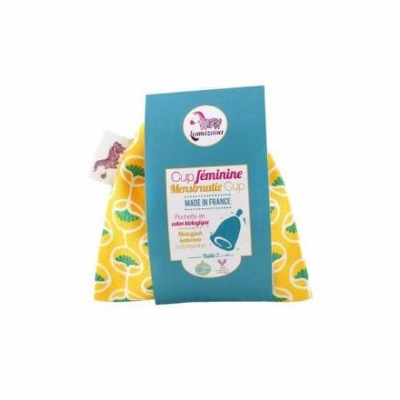 Menstruationstasse - Gelb Beutel - Grösse 1 - Lamazuna