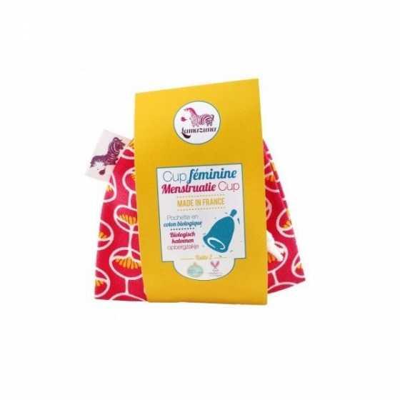 Menstruationstasse - Rosa Beutel - Grösse 1 - Lamazuna