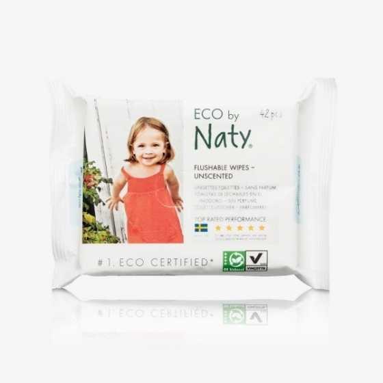 Naty lingettes sensitive jetable dans les WC