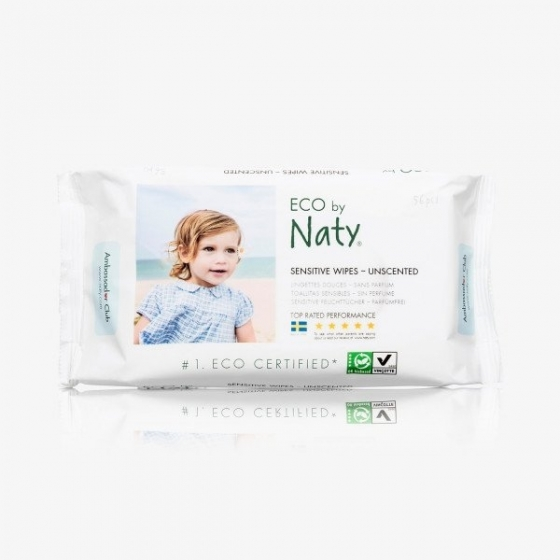 Naty sensitive Wischtücher ohne Parfüm