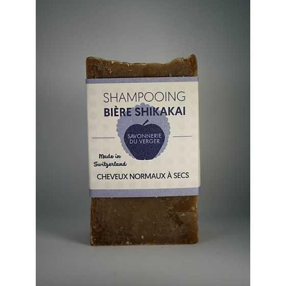 Shampooing bière-shikakai Petit, frimousse, cosmétique naturel, artisanal, suisse, Fribourg, savonnerie du verger