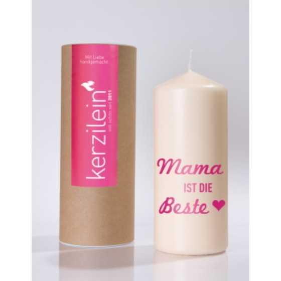 """Kerze """"Mama ist die Beste"""""""