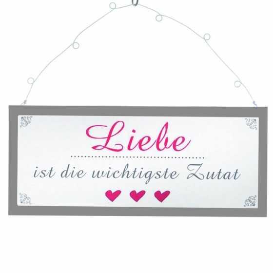 """Panneau en métal """"Liebe"""""""