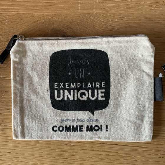 """Petite Trousse à cosmétiques """"EXEMPLAIRE UNIQUE"""""""
