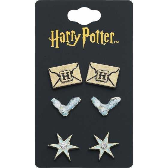 Set de boucles d'oreilles Hedwige - Harry Potter