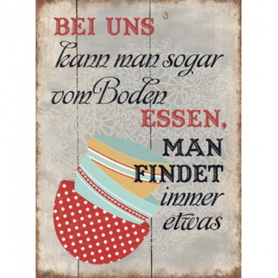 """Panneau en métal """"Bei uns kann man"""""""