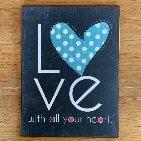 "Panneau en métal ""Love"""