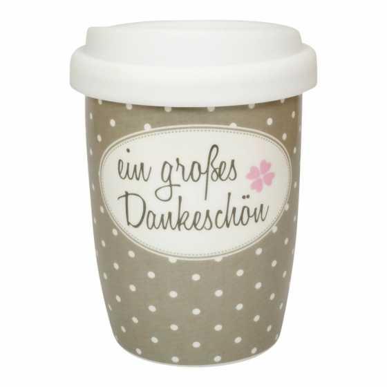 "Mug de voyage en porcelaine ""ein grosses Dankeschön"""