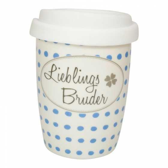 """Mug de voyage en porcelaine """"Lieblings Bruder"""""""