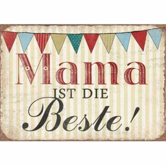 """Panneau en métal """"Mama ist die Beste"""""""