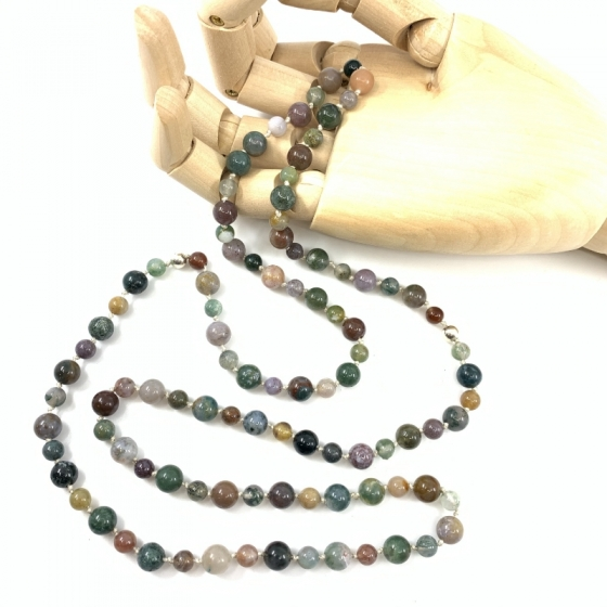 Indische Achat-Halskette