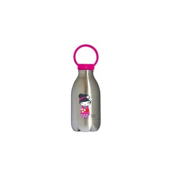 Bouteille Loopy Kokeshi rose