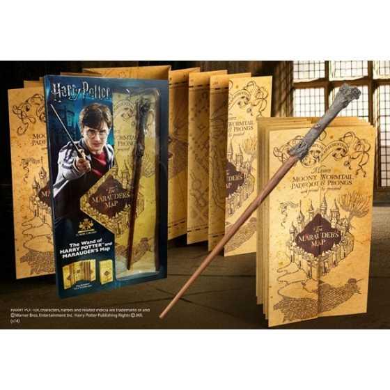 Harry-Potter Zauberstab und Marauders' Map - Blister