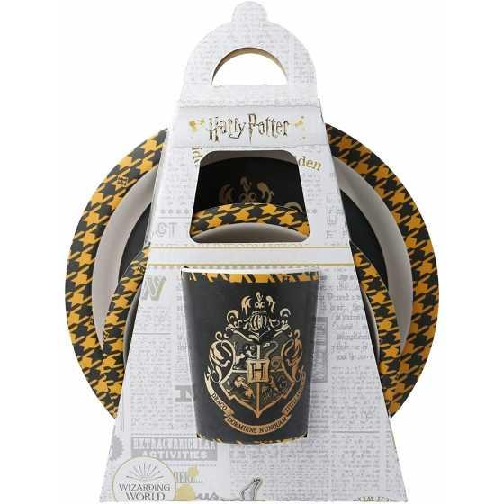 3-teiliges Essgeschirr aus Bambus - Harry Potter