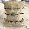 Bracelets noeud coulissant en perles Aventurine verte