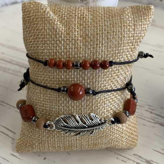 Armbändern aus Rot Jaspis