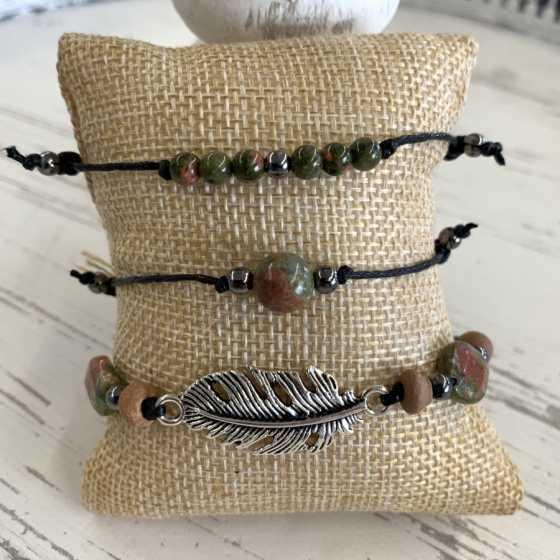 Armbändern aus Unakit