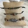 Bracelets en perles Unakite noeud coulissant