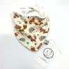 Bavoir bébé, Renard en coton jersey Bio, couture création artisanale, cadeaux naissance