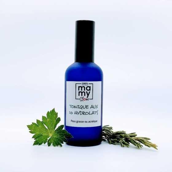 Mamyslow Tonic für gemischte und fettige Haut, veganes Produkt, Schweizer biologisches handwerkliches Baby-Produkt