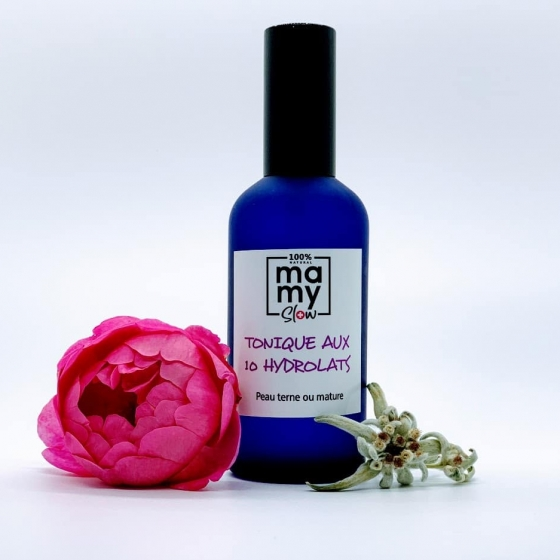 Mamyslow Tonique peau terne et mature, produit vegan, bio artisanal suisse pour bébé
