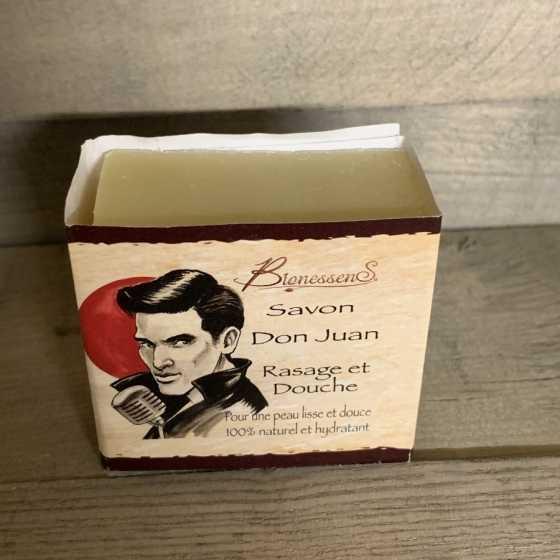 Savon douche et rasage - Don Juan Mezzo BionessenS, produit naturel, artisanat, suisse, cosmétique