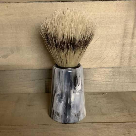 Rasierpinsel marmoriertem Griff,  natürliche, ökologische Produkte, vegan, Schweiz, Rasieren, Shop, Online-Shop