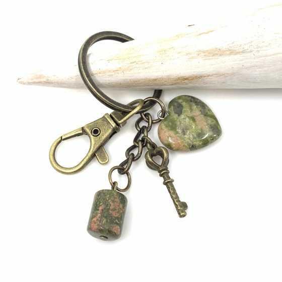 Porte-clés Unakite - Epidote