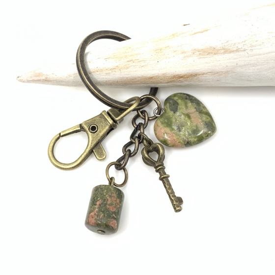 Porte clé Unakite Epidote