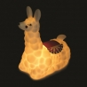 Dieses knackige Nachtlicht nimmt die Form eines Lamas an.