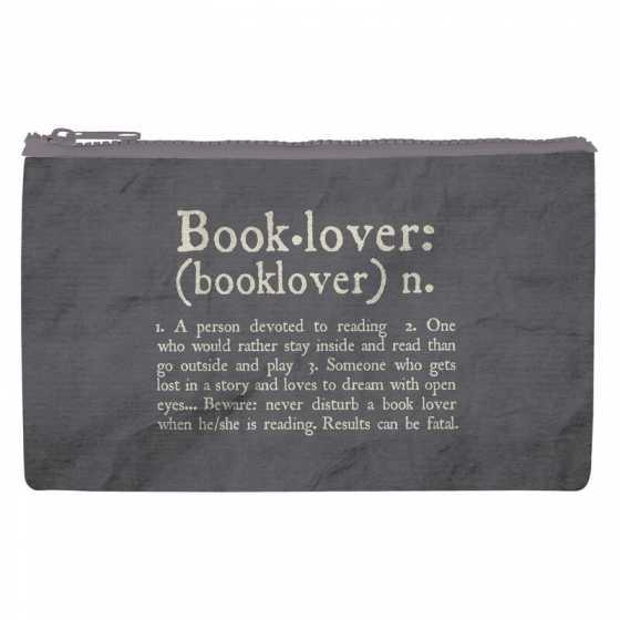 Funky Collection Reissverschlusstasche - Buchliebhaber, Legami, Maskentasche