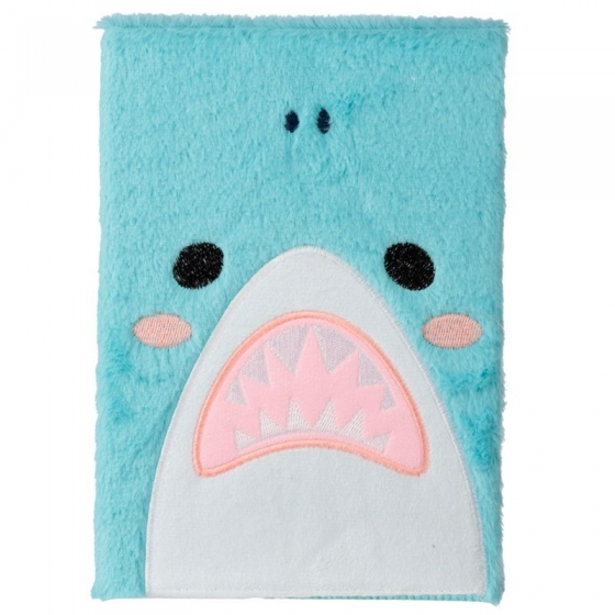 Grand Bloc-note Peluché Fluffies Shark Cafe - Requin