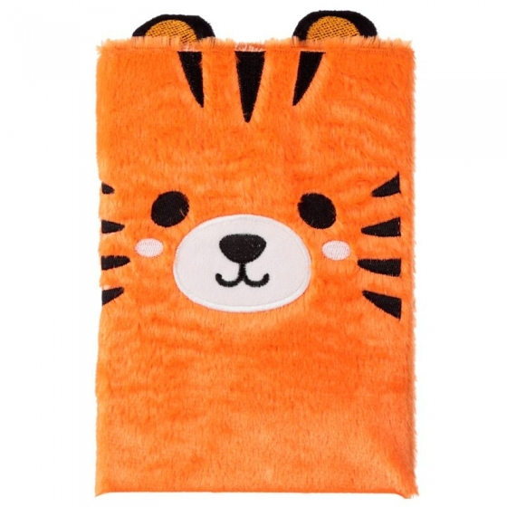 Grand Bloc-note Peluché Animal Jungle & Zoo Fluffies - Tigre